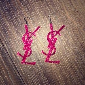 Yves Saint Laurent Jewelry - YSL earrings, plastic, bedazzled